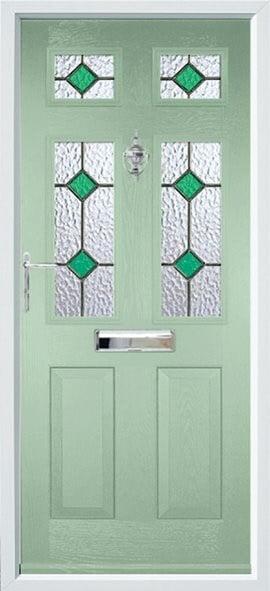 Tenby Composite Door Green